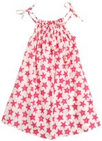 Selini Action Stars Print Cotton Muslin Cover-Up Dress