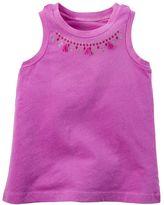 Carter's Baby Girl Glitter Tassel Necklace Racerback Tank