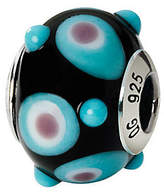 Murano Prerogatives Sterling Black/Blue/Pink Italian GlassBead