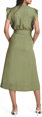 Reiss Emma Tie Waist Shirtdress