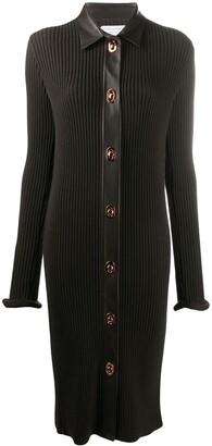 Bottega Veneta Rib Knit Dress With Roll Cuff Sleeves
