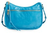 Hobo Karder Leather Crossbody Bag - Blue/green