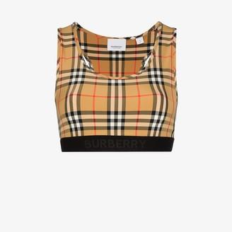 Burberry Vintage Check sports bra