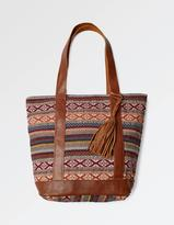 Fat Face Woven Multi Stripe Tote Bag