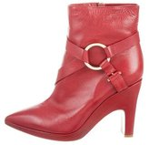 Pollini Leather Pointed-Toe Ankle Boots