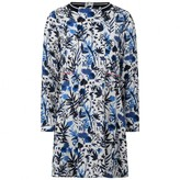 Ikks IKKSGirls White & Blue Floral Print Dress