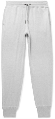 Tom Ford Tapered Melange Cotton, Silk And Cashmere-Blend Sweatpants