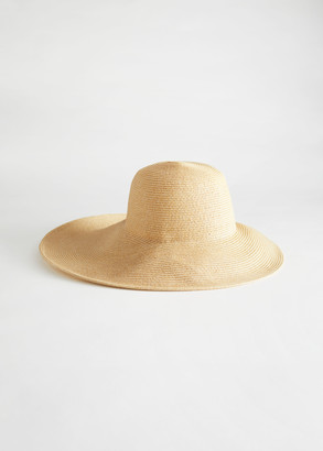 And other stories Wide Brim Straw Ribbon Hat