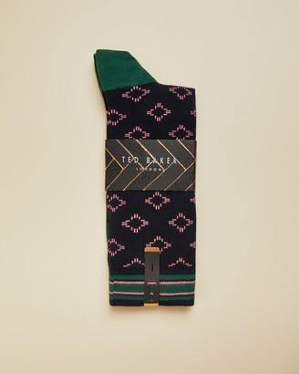 Ted Baker BRANS Geo cotton socks
