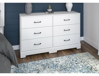 Kathy Ireland Home by Bush Furniture River Brook 6 Drawer Double Dresser Color: White Suede Oak