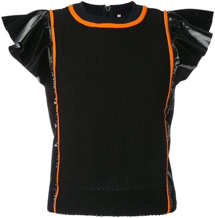 NO KA 'OI No Ka' Oi Manu frill sleeve sports top