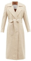 Giuliva Heritage Collection The Linda Herringbone Wool-twill Coat - Womens - Cream