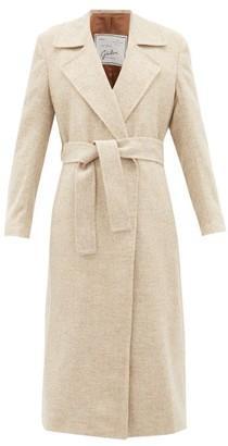 Giuliva Heritage Collection The Linda Herringbone Wool-twill Coat - Cream