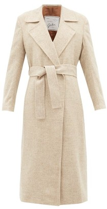 Giuliva Heritage Collection The Linda Herringbone Wool-twill Coat - Womens - Cream