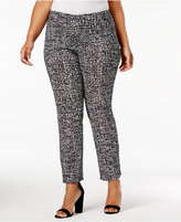 JM Collection Plus Size Printed Pull-On Pants, Created for Macy's