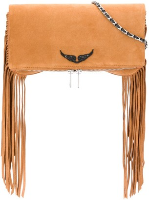 Zadig & Voltaire Rock Fringe clutch bag