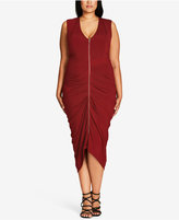 City Chic Trendy Plus Size Zip-Front Dress