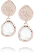 Thumbnail for your product : Monica Vinader Boucles d'oreilles en plaqué or rose et pierres de lune Siren