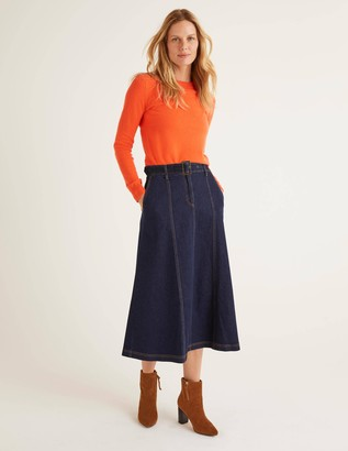 Boden Mira Denim Midi Skirt