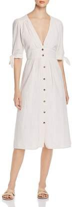 Vero Moda Mila Seersucker Tie-Sleeve Midi Dress