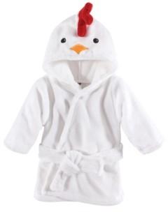Hudson Baby Animal Face Hooded Bathrobe, 0-9 Months
