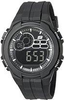 Skechers Men's Quartz Plastic Casual Watch, Color:Black (Model: SR1089)