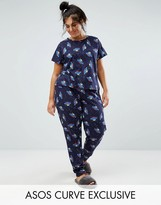 Asos UFO Space Print Short Sleeve Tee & Pajama Pant Set