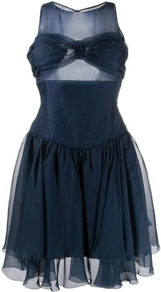 Chanel Pre Owned Gathered Bustier Dress