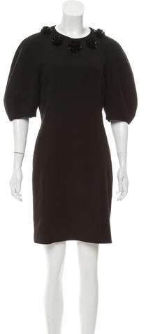 Alexander McQueen Embellished Wool Dress