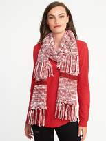 Old Navy Marled Sweater-Knit Fringed Scarf for Women
