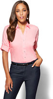 New York & Co. 7th Avenue SecretSnap Madison Stretch Shirt - Pink