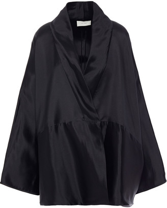 The Row Pernia Draped Silk-mikado Wrap Jacket