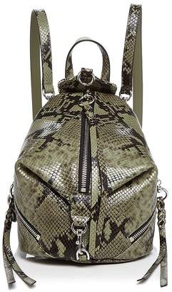 Rebecca Minkoff Julian Mini Snakeskin-Print Backpack