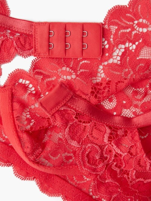 Thumbnail for your product : Hanro Moments Lace Soft-cup Bra - Pink