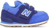 New Balance 574 suede and mesh trainers 6-9 years