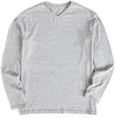 Roundtree & Yorke Soft Washed Long-Sleeve Snow Heather V-Neck Tee