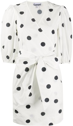 Ganni Polka Dot Dress