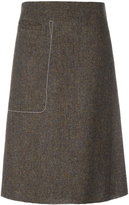 Maison Margiela stitch pocket a-line skirt