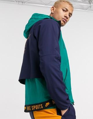 Nike Training sport pack hooded zip-up jacket in teal