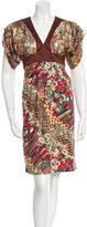 Just Cavalli Metallic Printed Dress