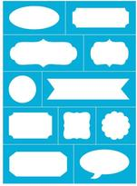 Americana Reusable Stick on Lotsa Labels Stencil 8 in. x 11 in.