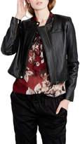 Rachel Roy Quilted Vegan Leather Moto Jacket