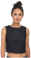 7 For All Mankind Crop Seamed Tank Top