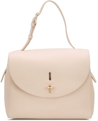Furla Foldover Leather Tote Bag