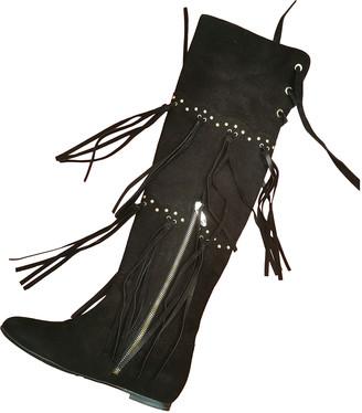 Flavio Castellani Black Suede Boots