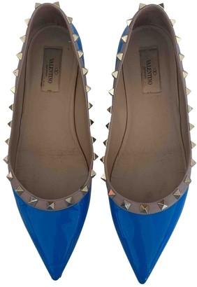 Valentino Rockstud Blue Patent leather Ballet flats