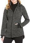 Preston & York-preston york hooded stand collar zip front jacket