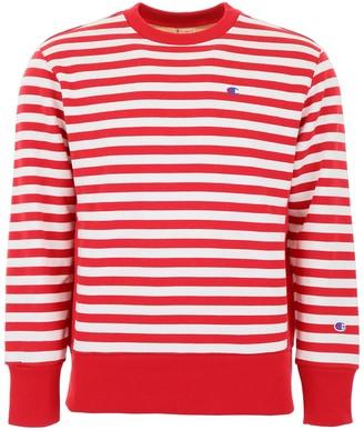 Champion Striped C Logo Sweatshirt