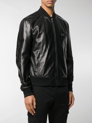 Dolce & Gabbana Bomber-Style Leather Jacket