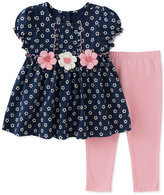 Kids Headquarters 2-Pc. Flowers Tunic & Leggings Set, Baby Girls (0-24 months)